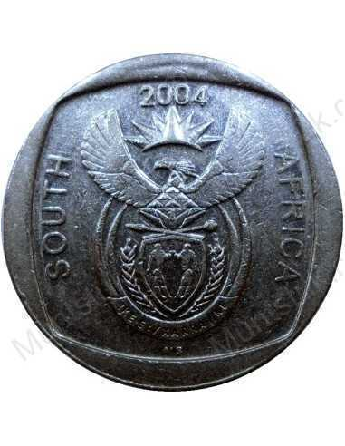 Two Rand, South Africa, 2004, Nickel plated Copper