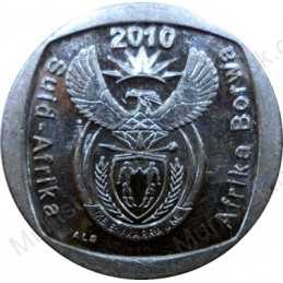 Two Rand, South Africa, 2010, Nickel plated Copper