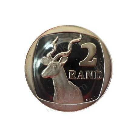 Two Rand, South Africa, 1991, Nickel plated Copper