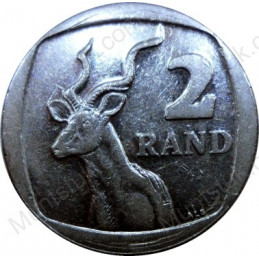 Two Rand, South Africa, 2008, Nickel plated Copper