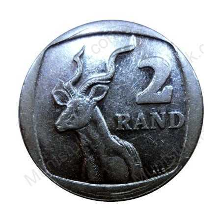 Two Rand, South Africa, 2000, Nickel plated Copper*