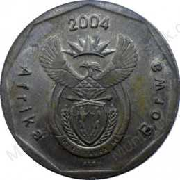 Twenty Cent, South Africa, 2004, Bronze plated Steel
