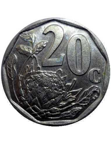 Twenty Cent, South Africa, 1998, Bronze plated Steel
