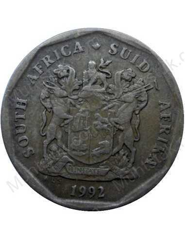 Twenty Cent, South Africa, 1992, Bronze plated Steel