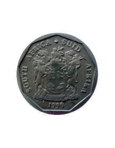 Twenty Cent, South Africa, 1990, Bronze plated Steel