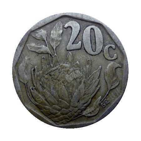 Twenty Cent, South Africa, 1995, Bronze plated Steel