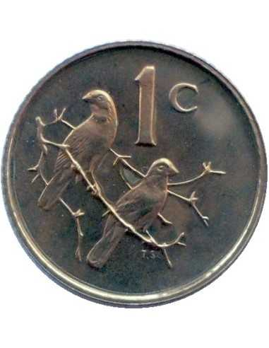 One Cent(English), South Africa, 1965, Bronze