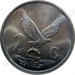 Two Cent, South Africa, 1990, Copper plated Steel