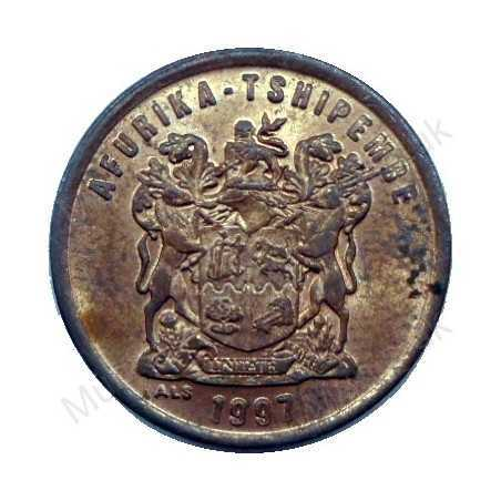 Two Cent, South Africa, 1997, Copper plated Steel