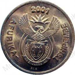 Two Cent, South Africa, 2001, Copper plated Steel