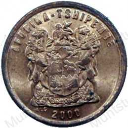 Two Cent, South Africa, 2000, Copper plated Steel