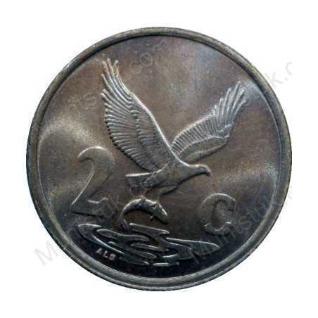 Two Cent, South Africa, 1991, Copper plated Steel