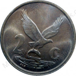 Two Cent, South Africa, 1994, Copper plated Steel