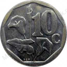Ten Cent, South Africa, 2000, Bronze plated Steel