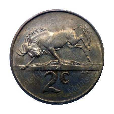Two Cent(Afrikaans), South Africa, 1965, Bronze