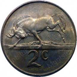 Two Cent(Afrikaans), South Africa, 1969, Bronze