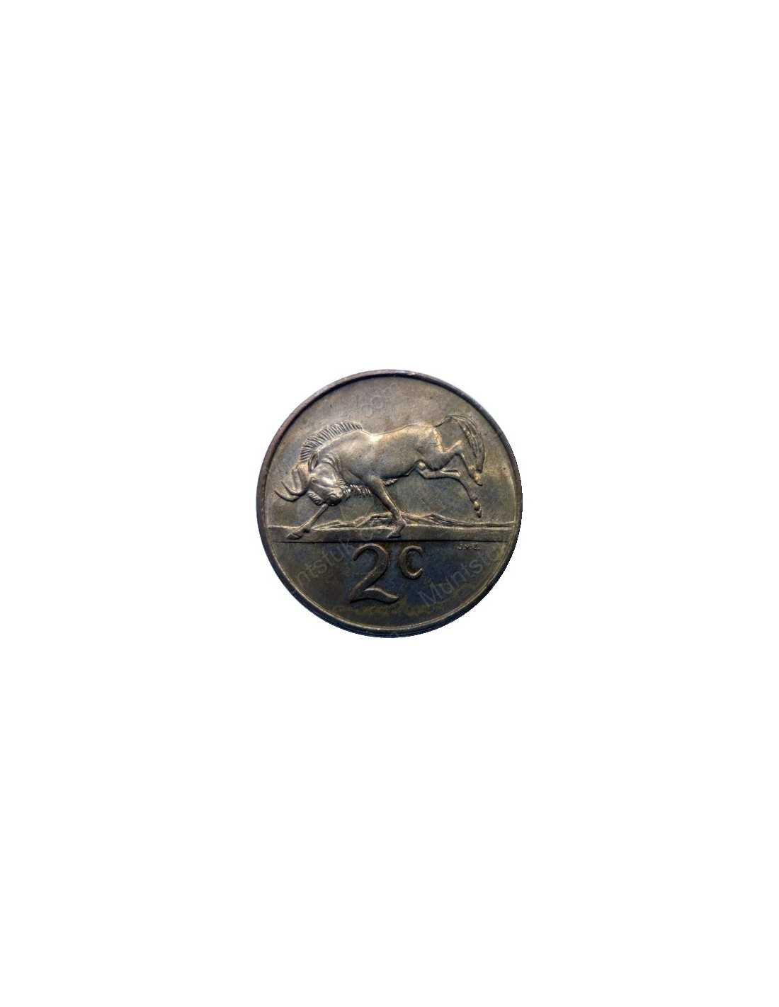 Two Cent English South Africa 1965 Bronze 713