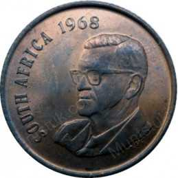 Two Cent(English), South Africa, 1968, Bronze