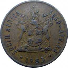 Two Cent, South Africa, 1983, Bronze