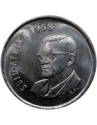 Five Cent(Afrikaans), South Africa, 1968, Nickel