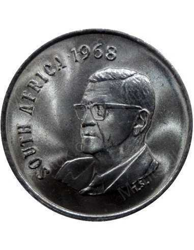 Five Cent(English), South Africa, 1968, Nickel