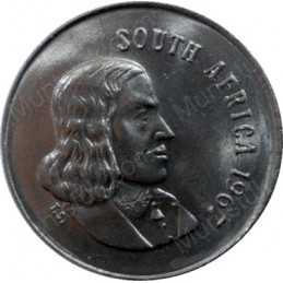 Five Cent(English), South Africa, 1967, Nickel