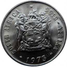 Ten Cent, South Africa, 1973, Nickel