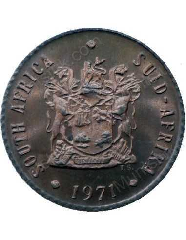 Half Cent, South Africa, 1971, Bronze