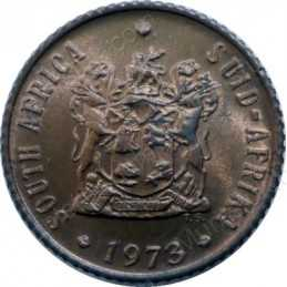 Half Cent, South Africa, 1973, Bronze