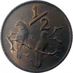 Half Cent, South Africa, 1977, Bronze