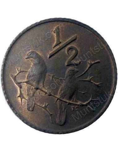 Half Cent, South Africa, 1982, Bronze
