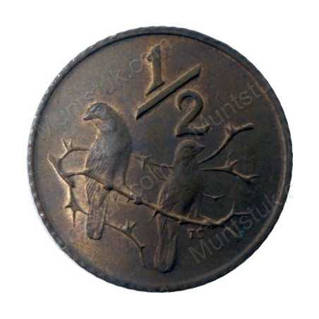 Half Cent, South Africa, 1975, Bronze