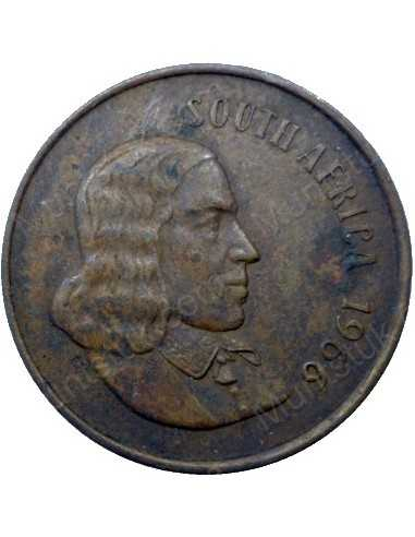 Two Cent(English), South Africa, 1966, Bronze
