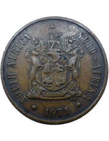 Two Cent, South Africa, 1971, Bronze