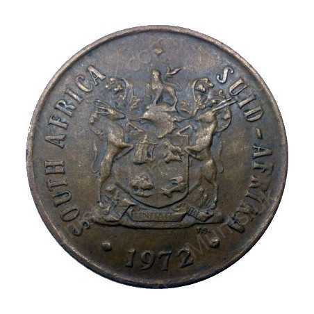Two Cent, South Africa, 1972, Bronze