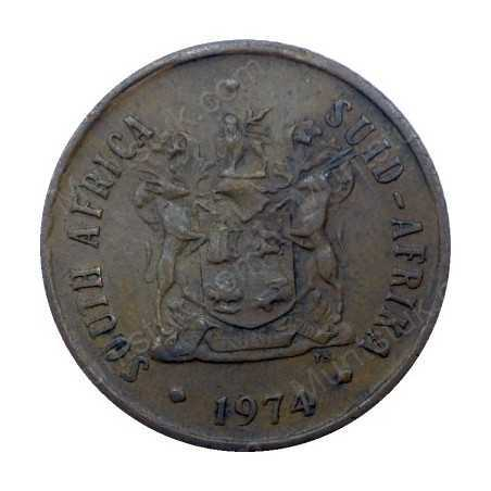Two Cent, South Africa, 1974, Bronze