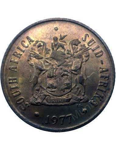 Two Cent, South Africa, 1977, Bronze