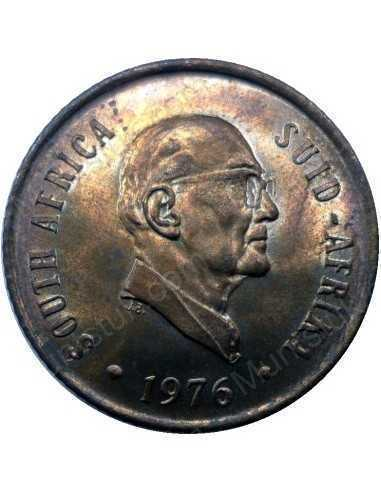 Two Cent, South Africa, 1976, Bronze