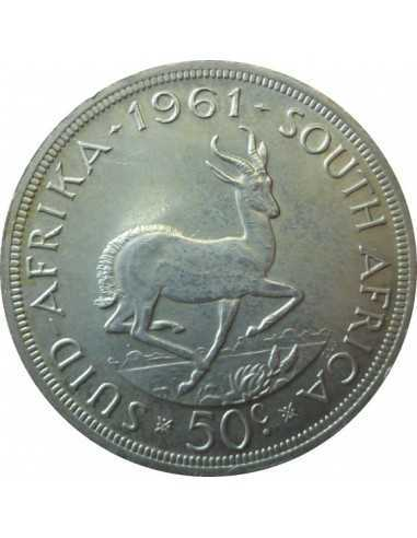 Fifty Cent, South Africa, 1961, Silver Proof