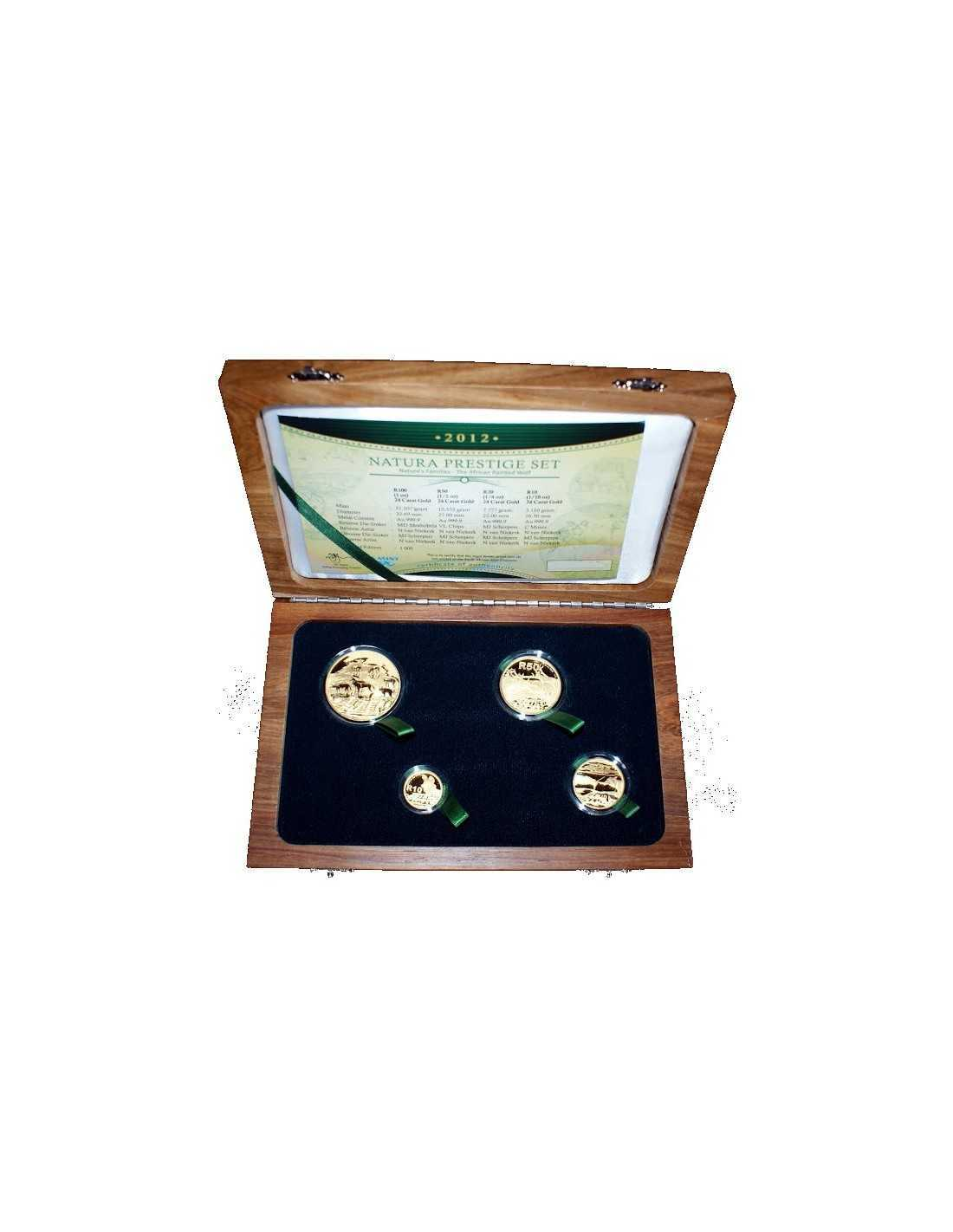 Natura 2012 African Painted Wolfprestige Set 4 Coin Set