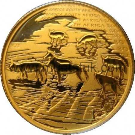 Natura - 2012 African Painted Wolf, 1/10oz gold