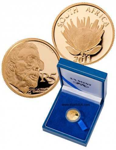 2011 Protea Series, 1/10 OZ GOLD, JM Coetzee, Proof