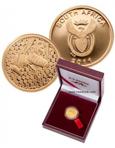 2011 African Honey Bee, 1/10 oz Gold, Proof
