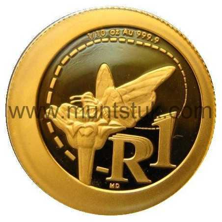 2012 African Monach Butterfly, 1/10 oz Gold, Proof