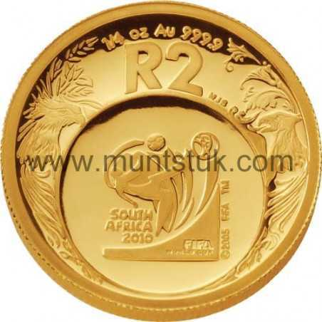 2006 World Cup Soccer(R2, 1/4 oz, 24 ct gold) - R2 Gold Coin - World Cup Soccer, 2006 - 1
