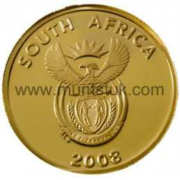 2008 Vredefort Dome, R2 Gold Coin - R2 Gold Coin -Vredefort, World Heritage Site, 2008 - 2