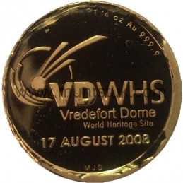 2008 Vredefort Dome, R2 Gold Coin - R2 Gold Coin -Vredefort, World Heritage Site, 2008 - 3
