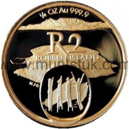 2002 Robben Island(R2, 1/4 oz, 24 ct gold)