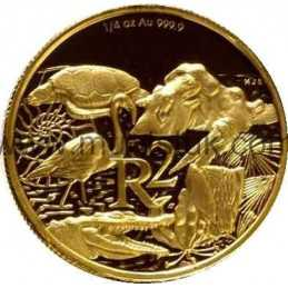 2003 Greater St Lucia Wetland Park(R2, 1/4 oz, 24 ct gold) - R2 Gold Coin - Greater St Lucia Wetland Park, World Heritage Site,