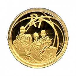 2002 The Tswana People(R1, 1/10 oz, 24 ct gold) - 2002 R1 Gold Coin - Tswana People TheProof 1/10 oz 24 carat Gold coin. Limite
